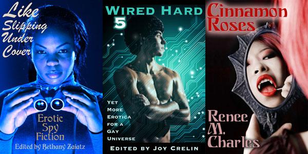 3 Circlet Press book covers
