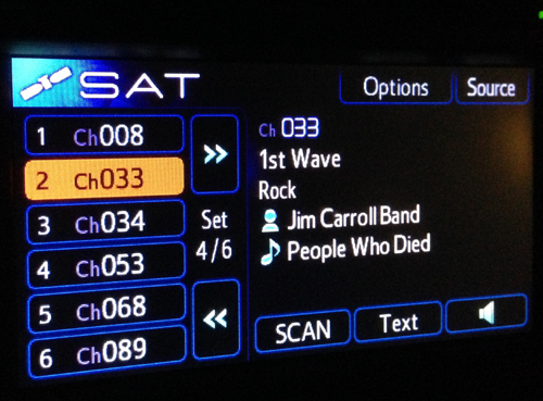 The radio mocking me while I was trying to make sense of hearing of her death.